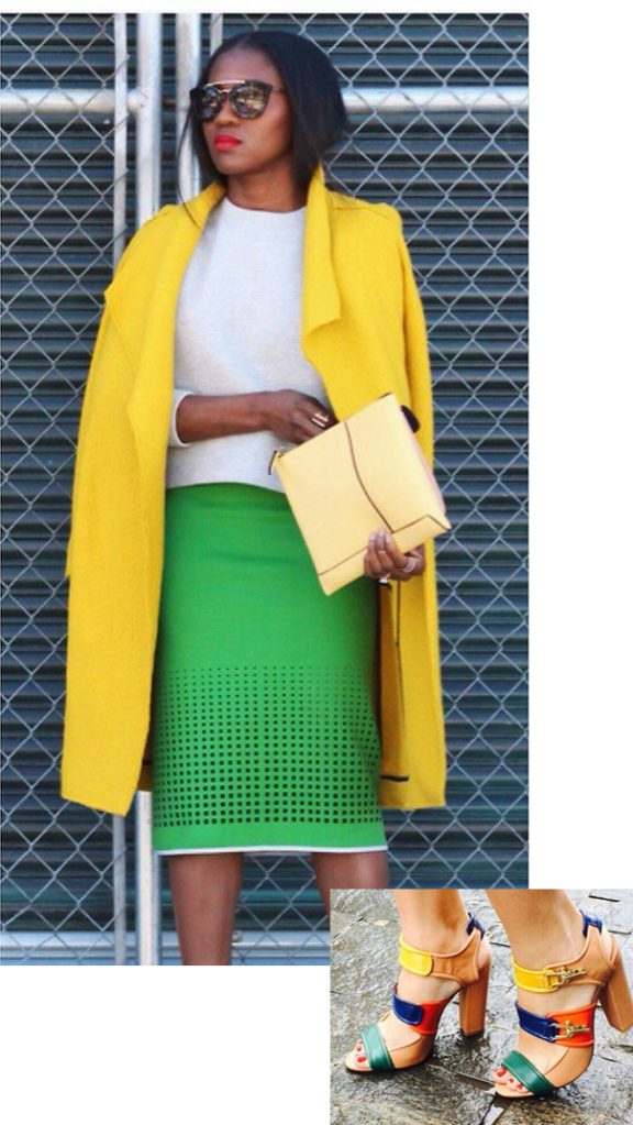 Colorblock & chaussures - Inspiration Look