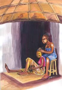 tresses à l'africaine